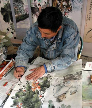 One of my favorite artists in Chengdu - You will see his work in various categories in our website.