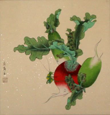 Chinese Radish Art Painting