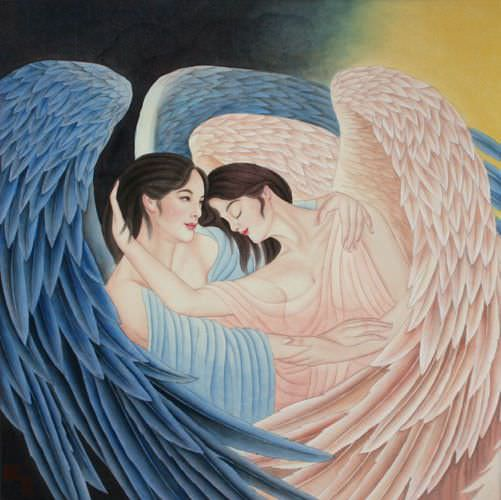 Angels Embrace - Special Painting